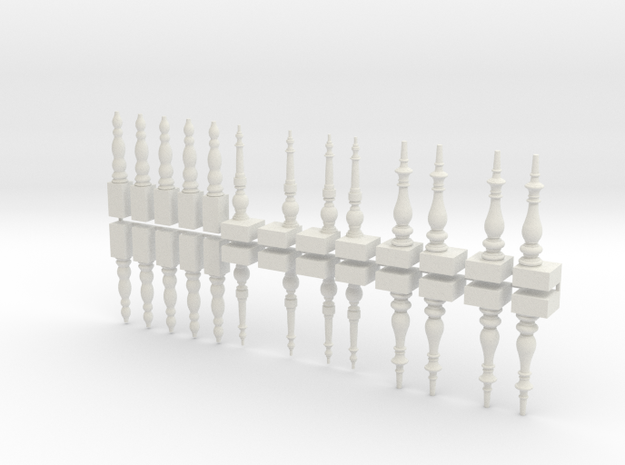 Table Legs - Set in White Natural Versatile Plastic
