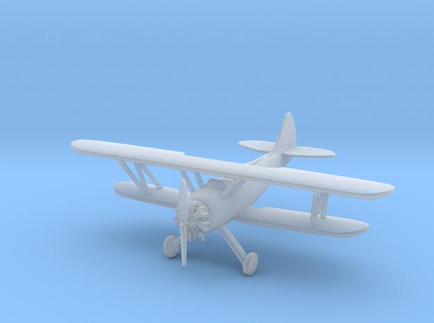 Waco UPF7 Biplane - 1:200scale in Smooth Fine Detail Plastic