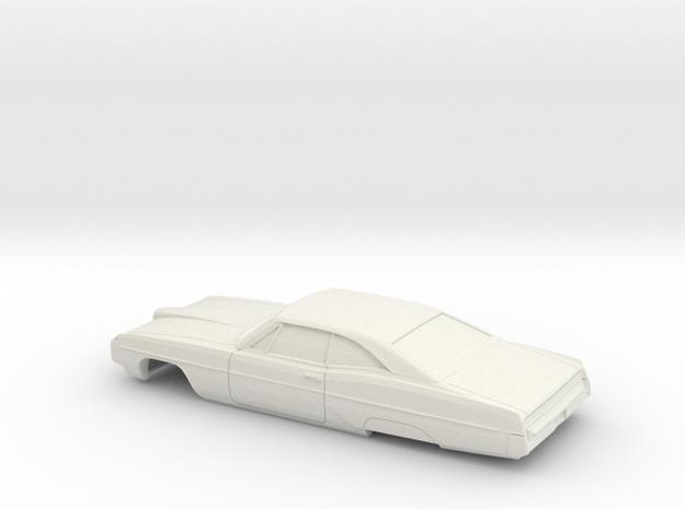 1/32 1968 Pontiac Bonneville Coupe Shell in White Natural Versatile Plastic