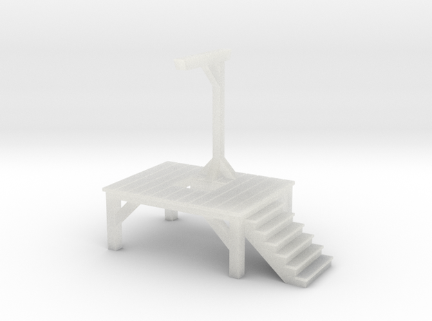 Gallows - Single Posted, Dropped (ZScale) 3d printed
