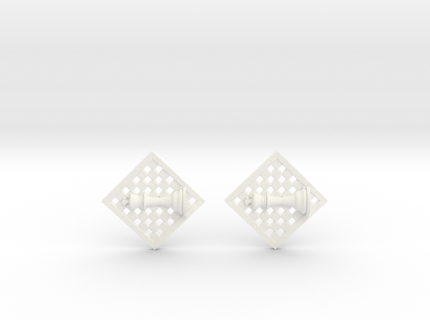 Chess Earrings - King 3d printed