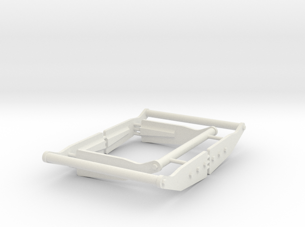 AMT BF10 FRAME - WHEELIE BARS in White Natural Versatile Plastic