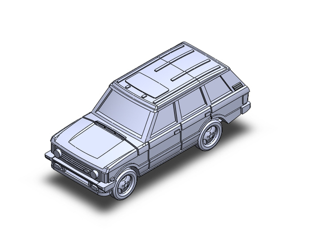RangeRover Classic SWB in Smoothest Fine Detail Plastic: 1:100