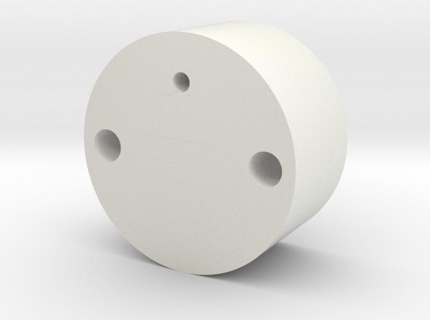 Jason S: Lower Chamber Mount in White Natural Versatile Plastic