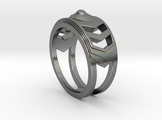 Women's Ring #1 in Polished Silver