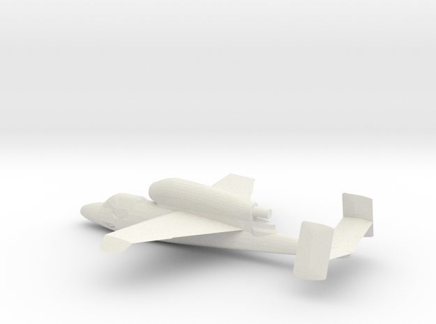 1:600 Heinkel He 162 A-2 in White Natural Versatile Plastic