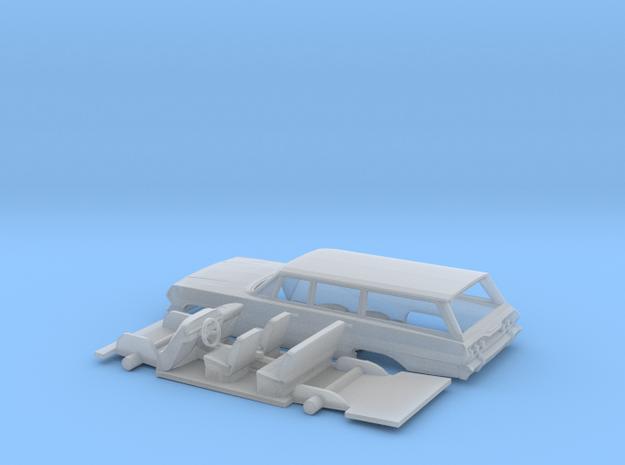 1/87 1963 Chevrolet Impala 4 Station Wagon Kit in Smooth Fine Detail Plastic