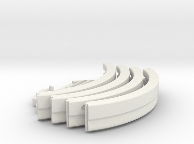 Apollo A7L Neck Ring in White Natural Versatile Plastic