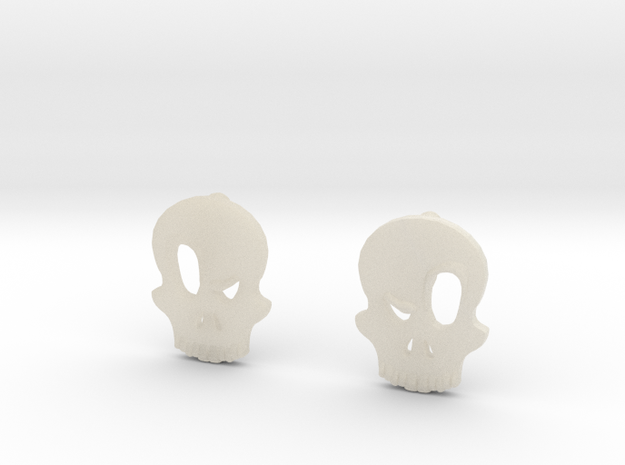 Eyebrow Skull Earrings (Small) 3d printed