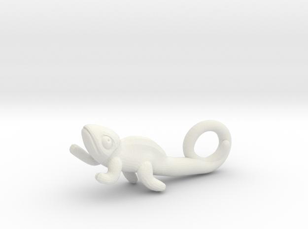 Chameleon Pendant in White Natural Versatile Plastic