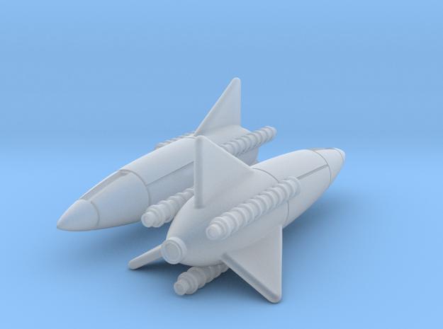 (1:144)(x2) Lippisch Rocket Rammer in Smooth Fine Detail Plastic