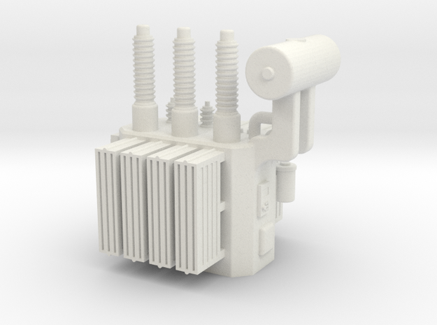 High Voltage Oil Filled Transformer in White Natural Versatile Plastic: 1:64 - S