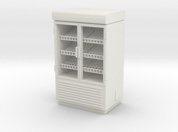 Grocery Fridge 02. 1:24 Scale  in White Natural Versatile Plastic