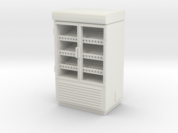 Grocery Fridge 02. 1:43 Scale  in White Natural Versatile Plastic