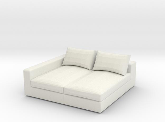 1:24 Sofa in White Natural Versatile Plastic: 1:24