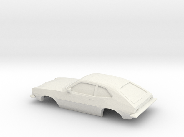 1/43 1972 Ford Pinto in White Natural Versatile Plastic