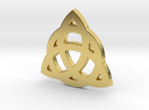 Celtic Knot 2 in Polished Brass