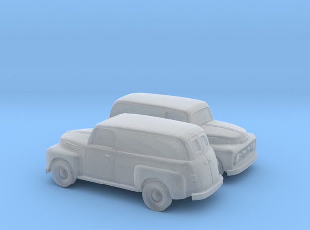 1/160 2X 1952 Ford Panel Truck in Smooth Fine Detail Plastic