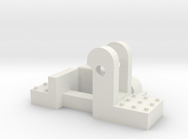 chien de voies version complet SNCV HO 1 piece ver in White Natural Versatile Plastic