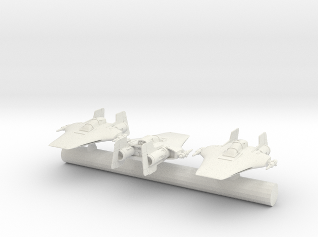 r22 spearhead a-wing  small in White Natural Versatile Plastic