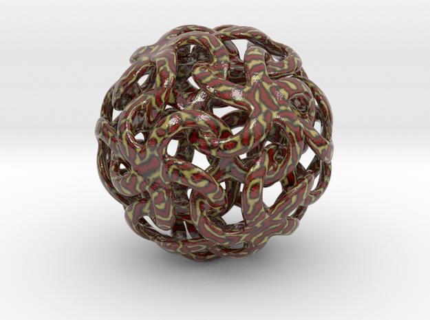 Snake stars ornament in Glossy Full Color Sandstone