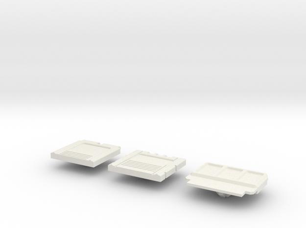 CAB COVERS V1 in White Natural Versatile Plastic