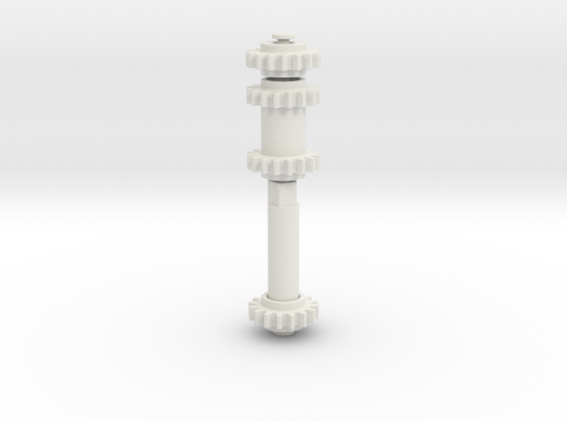 three functions through turntable in White Natural Versatile Plastic
