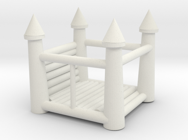 Bounce House in White Natural Versatile Plastic