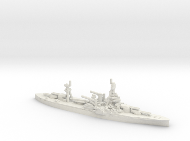 USS New York (BB-34) (1942) in White Natural Versatile Plastic