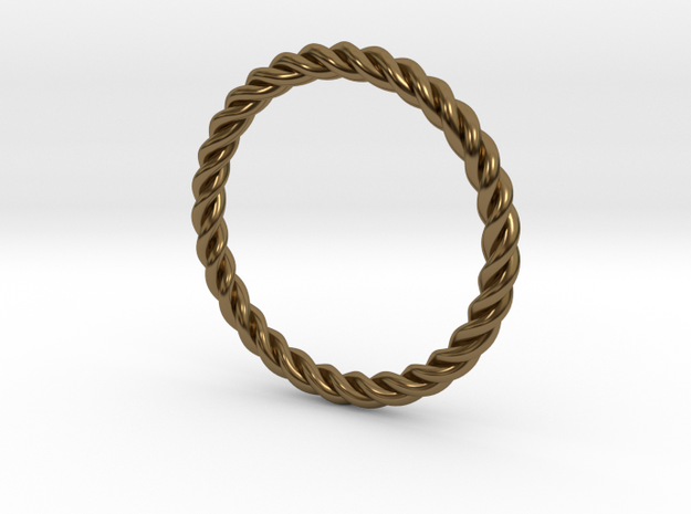 Ring Twisted US Size 7, 17.3 Mm