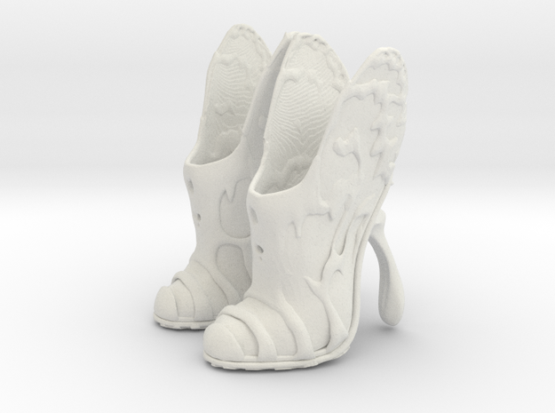 girl- butterfly boots 1 in White Natural Versatile Plastic