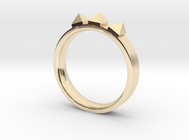 Edwardian Crown Ring - Sz. 7 in 14K Yellow Gold