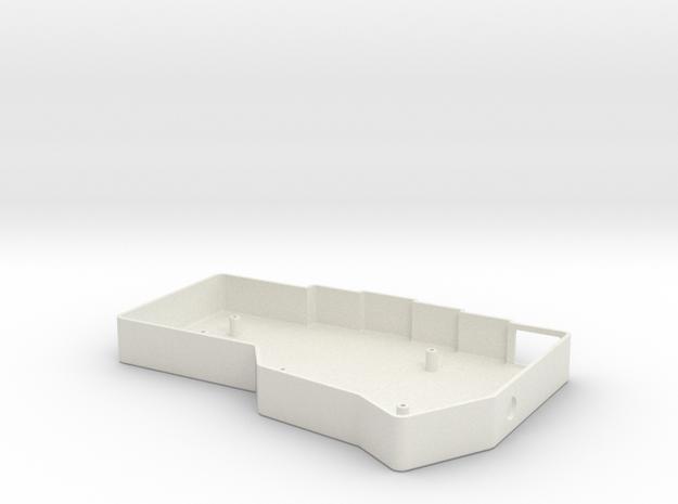 Minimalistic Corne (Crkbd) Keyboard Bottom Case (L in White Natural Versatile Plastic