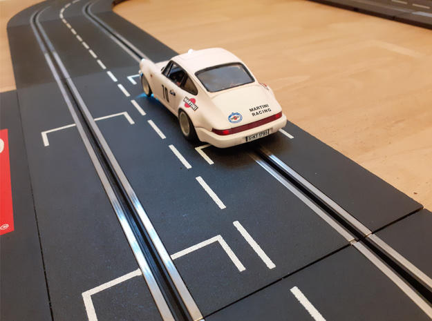Porsche 911 Turbo (964) Slotcar BRM Camber System in White Natural Versatile Plastic