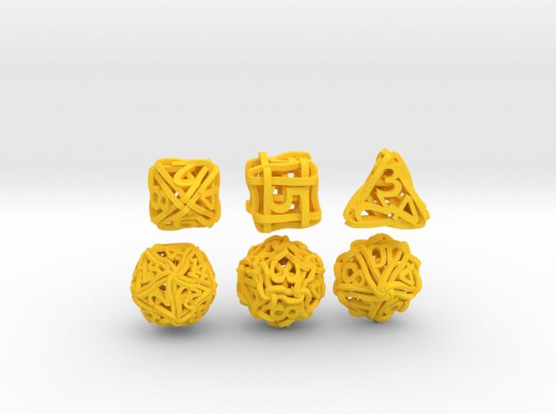 Loops Dice - Small 3d printed