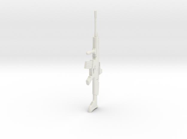 1:16 Miniature FN Scar Mk16 in White Natural Versatile Plastic: 1:16