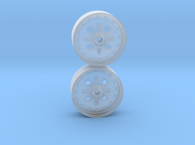 1/64th Scale 42 Inch Silver Cast Wheel in Smooth Fine Detail Plastic