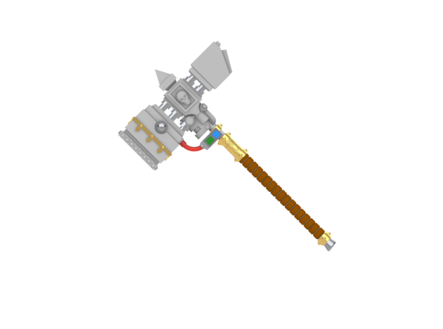 Space Knights Force Hammer Type 01 in White Natural Versatile Plastic