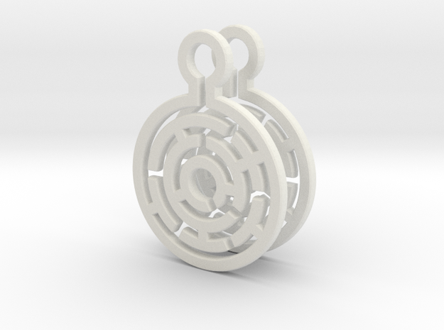 Maze Earrings in White Strong & Flexible