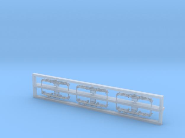 Scala N - sz 362 Fiancate carrelli in Smooth Fine Detail Plastic