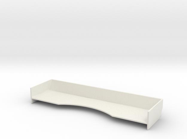 Mini-Z Race Spoiler v2-Universal in White Natural Versatile Plastic