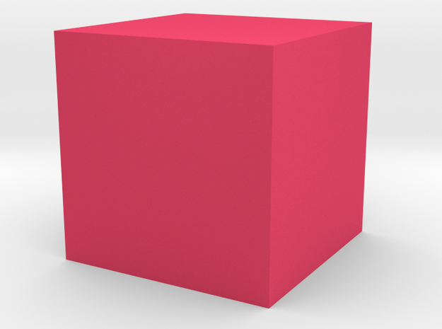 cube 1 cm in Toys and Games in Pink Processed Versatile Plastic