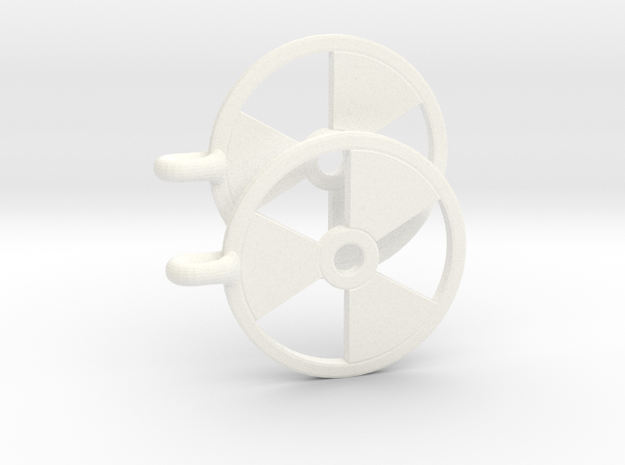 Radioactive Earrings 3d printed