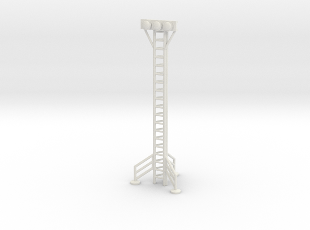 Space 1999 Hangar Light Tower - Dinky Scale in White Natural Versatile Plastic
