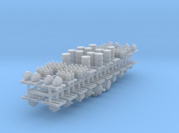 Ladegüter V1 auf Europaletten 40er Set - 1:120 TT in Smooth Fine Detail Plastic