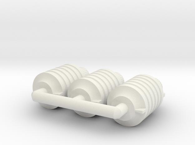 1:6 Miniature Type 23 Fragmentation Grenade - 3x in White Natural Versatile Plastic
