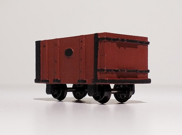 009 FR Four Plank Wagon 4mm Scale in Smooth Fine Detail Plastic