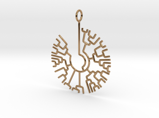 Phylogenetic Tree pendant: science jewelry 3d printed