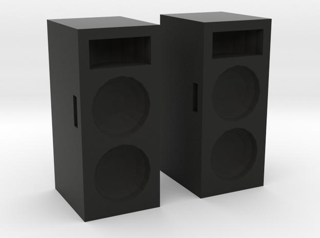 Concert Speakers in Black Natural Versatile Plastic: 1:43