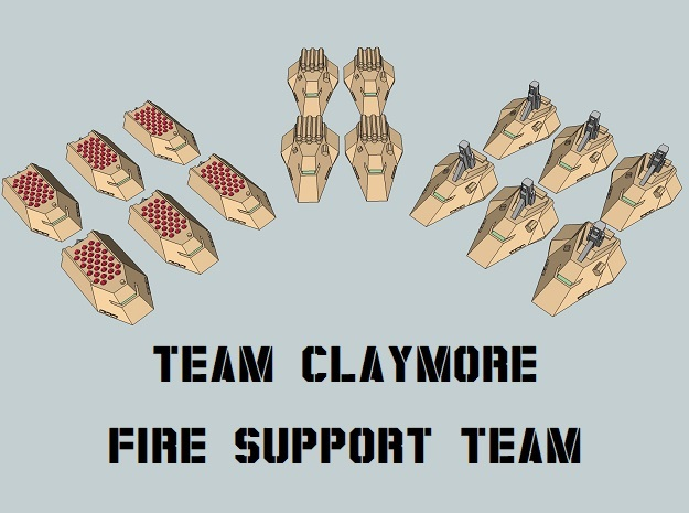 """Team Claymore"" 3mm Anti-Grav FST (16pcs) in Smooth Fine Detail Plastic"
